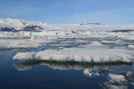 Stunning icecap landscape in Jokulsarlon Iceland
