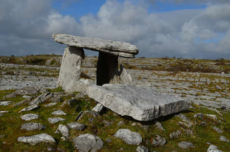 Great rock portal tomb found in county Clare Ireland.