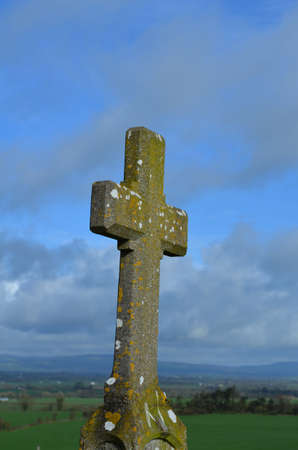 Fantastic Christian cross in County Tipperary Ireland. 版權商用圖片