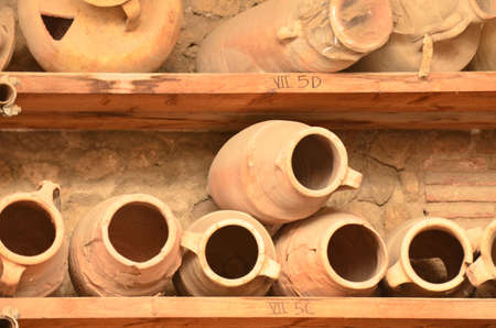 Stunning pottery in the anciet city of Pompeii