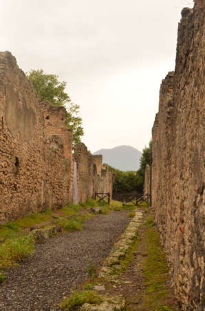 Beautiful photo of the ruins in Pompeii