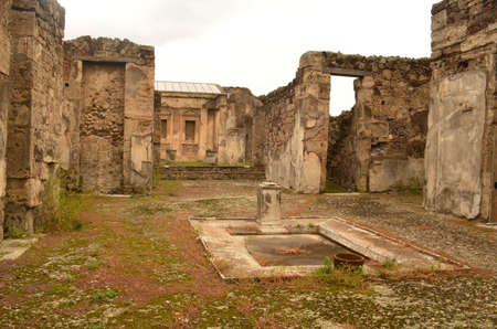 Beautiful stunning ruins of the ancient city of Pompeii Italy.