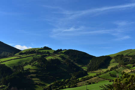 Gorgeous rolling hills with green fields and meadows.