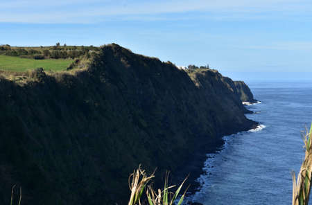 Stunning sea cliff along the shoreline of Sao Miguel.