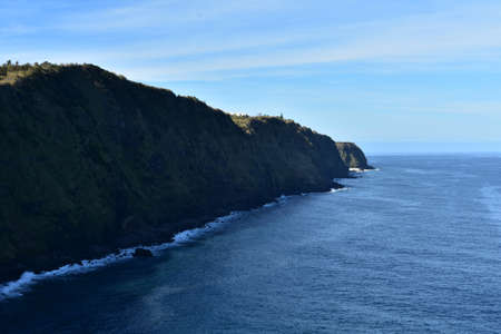 Fanastic sea cliffs along the shoreline of beautiful Sao Miguel.