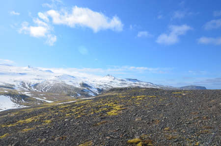Geology haven in Iceland with glaciers and mountains