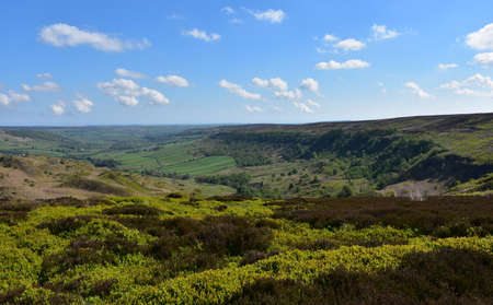 Spring day with a view of the moors in North England. Stock Photo