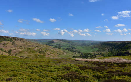 Boggs and moorland in the North of England. Stock Photo