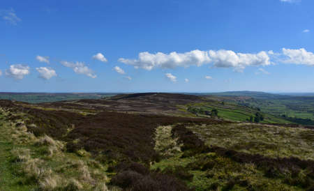 Gorgeous scenic views of North Yorkshire landscape in the spring.