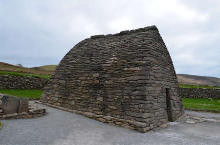 Ancient stone Gallarus oratory in Ireland.