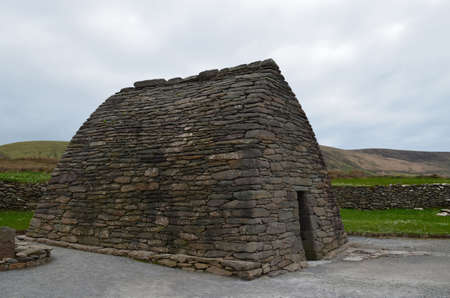 Gallarus oratory is an ancient stone structure in Ireland. 写真素材