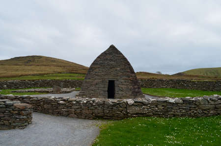 The Gallarus oratory found on the hills of Dingle Penninsula in Ireland.