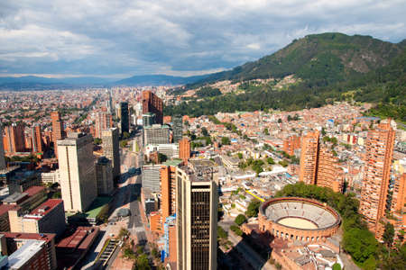 View of Bogota, Colombia, South America