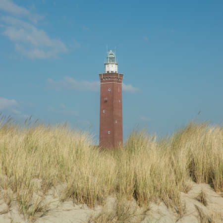 The lighthouse of Ouddorp, Goeree Overflakkee, Holland Stock Photo