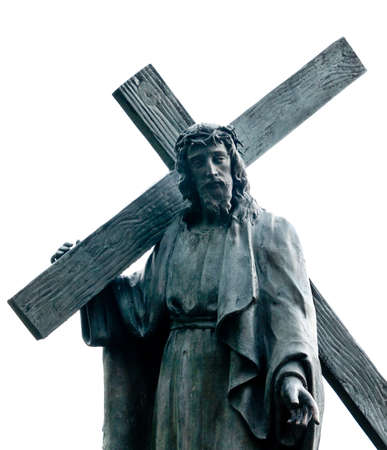 Christ carrying the cross, Monserrate mountain, Bogota, Colombia  photo