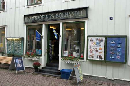 Typical Bookstore in small country town Söderköping(Sweden) - 22.08.2008 Publikacyjne