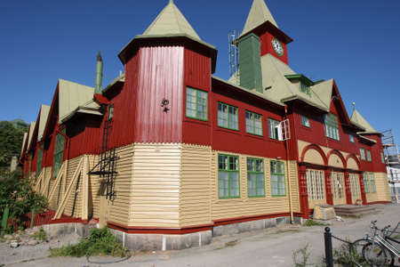 Stockholm, Sweden - July 19.2010: In northern Djurgarden-Stockholm is the oldest Tennis Hall. Was built in 1896 and is called