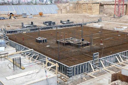 Construction Excavation - preparation for new building Фото со стока