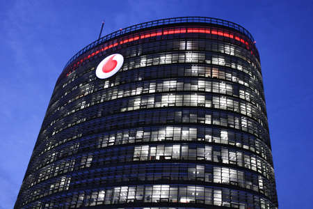 Dusseldorf, Germany - 18 December 2013 New Vodafone commercial and technical center in Dusseldorf