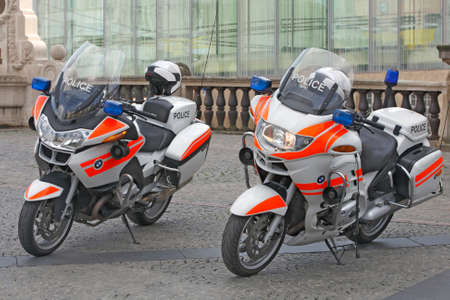 Police used BMW motorcycles in Luxembourg (Luxembourg) - October 2, 2014
