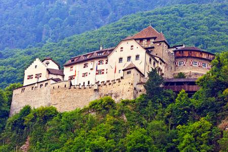 VADUZ, LIECHTENSTEIN - JULY 17: The Vaduz Castle, formely called High Liechtenstein, situated on a rock terrace above the capital of the Principality of Liechtenstein, Vaduz, Liechtenstein on July 17, 2015