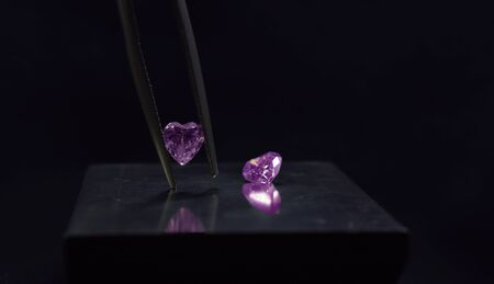 Colored diamonds Is a rare and expensive diamond, especially pink For jewelry making