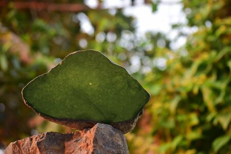Jade is a real natural jade, lumps on a beautiful natural background.