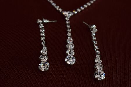 Diamond earrings As accessories Luxurious and expensive Stockfoto