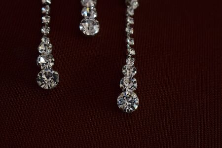 Diamond earrings As accessories Luxurious and expensive Reklamní fotografie