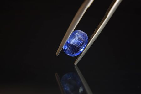 Gemstone The selected blue color is in the gemstone clamps. That is beautiful and expensive Imagens