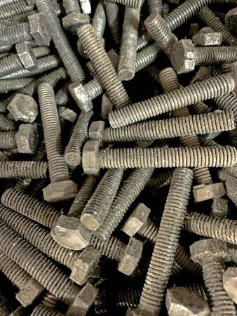 A View of the group of concrete steel  bolts