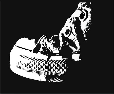 illustration of a sneakers shoes