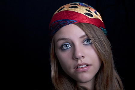 hippie girl with scarf  Stock Photo - 9894378