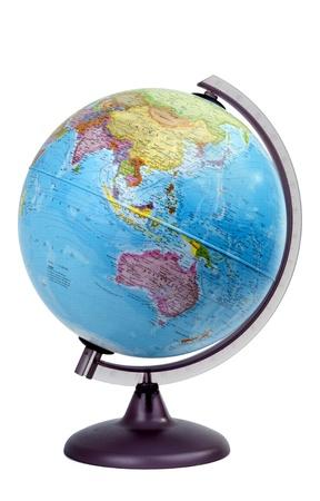 maps globes: globe asia oceania