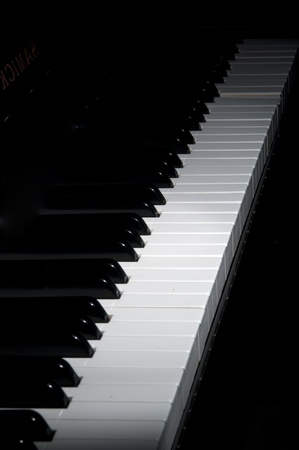 grand piano ebony and ivory keys  Stock Photo