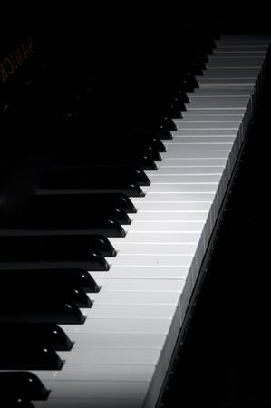 acoustically: grand piano ebony and ivory keys  Stock Photo