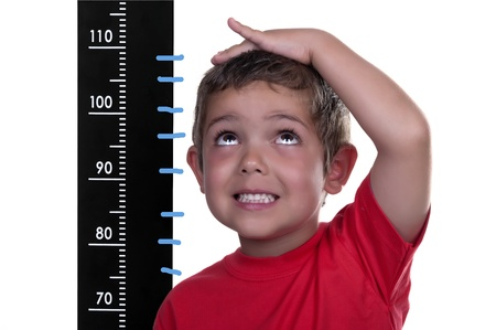 measured: measured child on white background