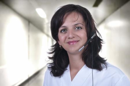 nurse called from the hospital hallway photo
