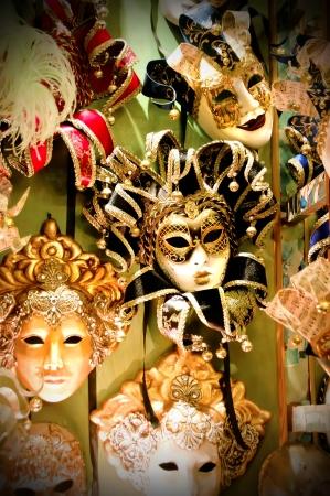 Colorful Venetian carnival masks for sale. Stock Photo - 14874795