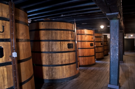 cellar with oak barrels of madeira wine Stock Photo - 15038566