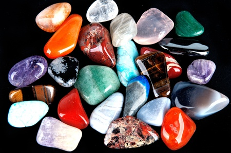 semiprecious: semiprecious stones  Stock Photo