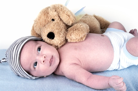 a one month old caucasian baby Stock Photo - 15147896