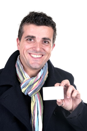 handsome man with credit card photo