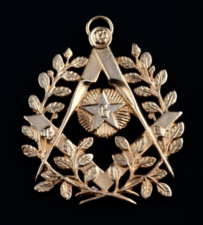 ancient freemasonry golden medal  photo