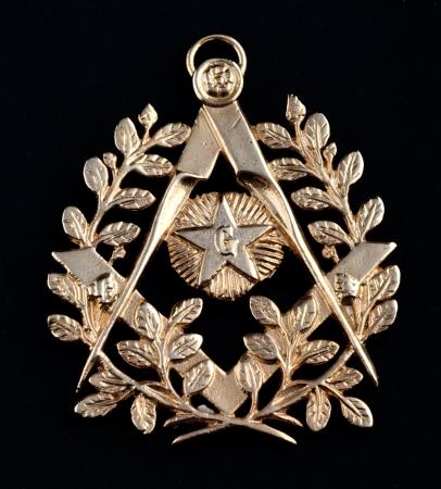 hospedaje: medalla de oro de la antigua masonería