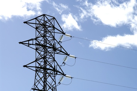 high voltage tower on blue sky Stock Photo - 15286684