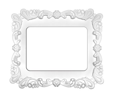 white frame isolated on white background photo