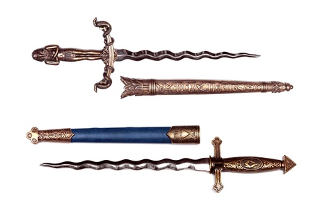 daggers: two daggers on white background