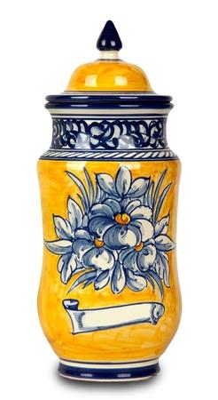 alchemical: vintage pharmacy vase on white background Stock Photo