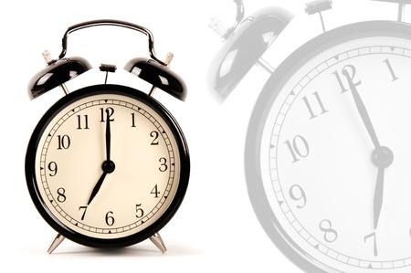 alarmclock: Alarm clock isolated on white